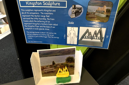 Poster and 3D printed icon for local town