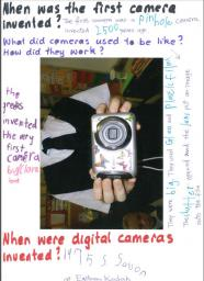 A product (digital camera) and questions page.