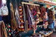 Clothing in a market stall