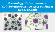 Collaboration on a project making a tīvaevae quilt