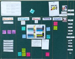 Scrum board for a Columba College project