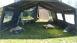 Image of a temper tent 2.4 metres wide 6.1 metres long