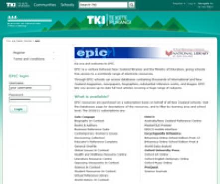 Website epic screenshot / Images / Resource reviews / Teaching