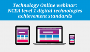 NCEA level 1 digital technologies achievement standards