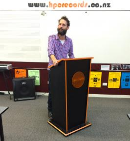 Music lectern and teacher