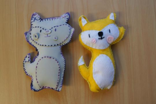 Student's cat soft toys