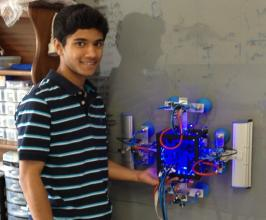 Sohail and his robotic window cleaner