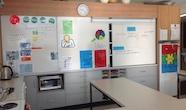 South Otago High School technology classroom whiteboard