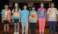 Students with tie-dyed t-shirts