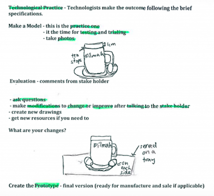 Worksheet for technological practice and making a cup of tea