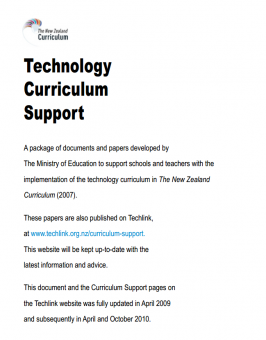 Technology curriculum support document cover
