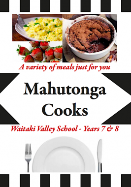 Waitaki Valley School Recipe book cover
