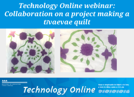 Webinar slide with title and picture of quilt