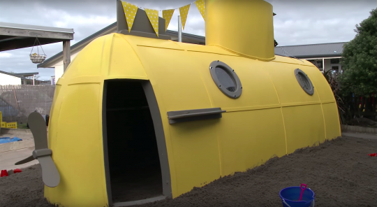 Yellow submarine playhouse