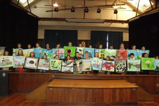 A class displaying their cushion covers