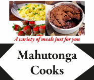 Recipe book cover with images of food