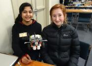 Columba students and their robot